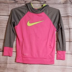 Girls hot pink Nike hoodie size large